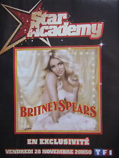 PUBLICITÉ DE PRESSE 2008 STAR ACADEMY AVEC BRITNEY SPEARS - ADVERTISING