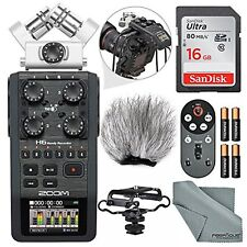 Zoom H6 Portable Recorder with Interchangeable Mic System Bundle Deluxe and Mor