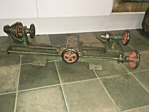 Clock / Watch Makers Vintage Small Lathe Leyland Barlow & Co Manchester 2ft Bed