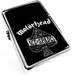 MOTORHEAD Ace Of Spades Black Smoking Cigarette Silver Petrol Lighter Metal Rock