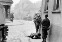 U.S. Army troops move through the German town of BlankenWW2 World War 4x6 inch D