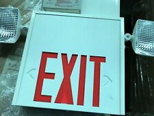 LED Exit Sign and Emergency Light Combination with Battery Backup (120V)
