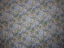 ancien tissu textile voile ameublement rideau léger imprimé vintage 200x152 / A