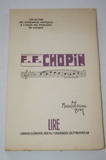 FREDERIC FRANCOIS CHOPIN-MUSIQUE-MARIE ANTOINE MEYER-1947 LIRE