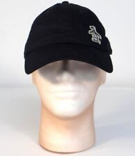 Penguin Logo Black Adjustable Cotton Baseball Cap Hat Adult One Size NWT