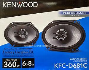 "NEW Kenwood KFC-D681C 6""x8"" 2-Way Coaxial Car Audio Speakers (PAIR) 6x8"