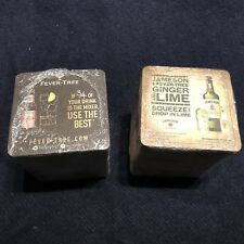 Jameson Irish Whiskey + Fever-tree Ginger & Lime  Drip Mats - Coasters X 200