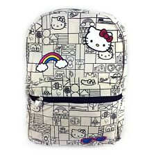 """Sanrio Hello Kitty16"""" Large Size School Canvas Backpack"""