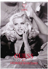 ANNA NICOLE SMITH Signed Calendar Cover - Model, Film & TV Actress - preprint