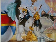 "RIP SQUEAK LTD. 95/595  LARGE GICLEE ON CANVAS  ""SQUEAKY CLEAN"" - SWEET!"