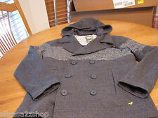 Men's RARE Modern Amusement grey coat jacket hoodie CROW NEW small S surf skate