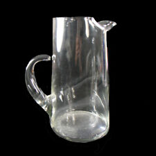 """Large Elegant Art Glass Pitcher, Open Handle, Pinched Spout, 10"""" Tall, Pristine"""