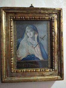 """Originale Miniatura, Acquerello, """" Mater Dolorosa """"  Fine '700."""