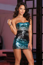 SHOW STOPPER SEQUIN FRONT STRAPLESS DRESS Size Medium