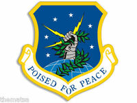 "AIR FORCE POISED FOR PEACE HELMET TOOLBOX BUMPER STICKER 4""  DECAL MADE IN USA"