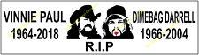 Vincent Vinnie Paul Dimebag Pantera Memorial Decal Bumber Sticker