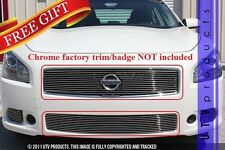 GTG Polished 2PC Overlay Combo Billet Grille Kit fits 2009 - 2011 Nissan Maxima