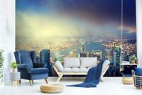 3D Night View City R1062 Wallpaper Wall Mural Self-adhesive Commerce Amy