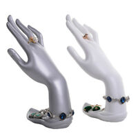 2Pcs Resin Hand Form Jewelry Display Holder Bracelet Necklace Ring Stand