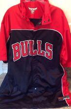 Vtg Nike Air Jordan Snap Button Warm Up Jersey Shirt Chicago Bulls Short SLV/LRG