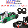 Urethane Slot Car Tyres x 4 Wasp 26 Fly Racing Trucks Front Rear