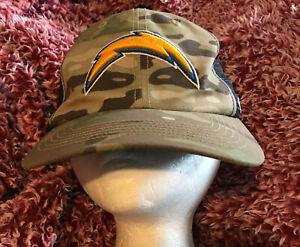 NFL Chargers LA San Diego. 47 Brand Camoflouge Lightning Bolt Hat  One Sz Strech