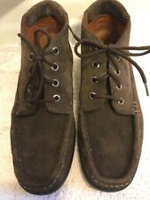 BALLY Men's 6.5 Brown Suede High Top Casual Shoes Made In Portugal
