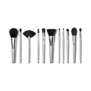 NEW E.L.F - 11 Piece Brush Collection - Silver
