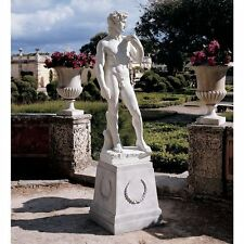 KY1303 - Michelangelo's David Grande Garden Statue - Antique Stone Finish!