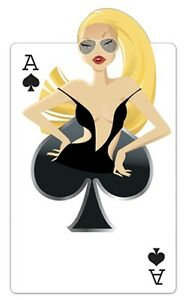 Spades 'Babe' Playing Cards Cardboard Cutout 162cm Tall-Great for Casino Parties