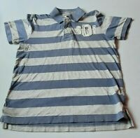 Mens Vintage SuperDry Button Up Polo Shirt Size Large Striped