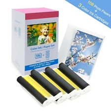 Reemplazo Canon Selphy CP1300 CP1200 CP910 CP810 tinta y papel, KP-108IN 31...
