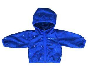 Pre-Owend Columbia Sportswear Zip Hoodie Jacket Infant Boys 3-6 Months Blue