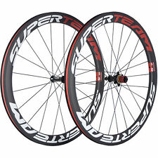 SUPERTEAM Tubeless Carbon Wheelset 50mm Chosen 7187 Hub Road Bike Carbon Wheels