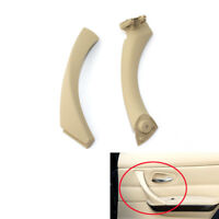 Beige Right Inner Door Handle Pull Trim Cover +Bezel For BMW 3Series E90 325 330