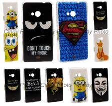 Cover Case For Microsoft Nokia Lumia 535 N535 Rose Batman Fox Owl Wolf Superman
