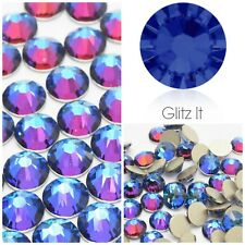 Swarovski x 50 MIXED SIZE Meridian Blue Crystals Rhinestones GLUE ON Nail Art