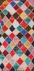Vintage Trellis Oriental Moroccan Area Rug Hand-knotted Wool 3'x6' Modern Carpet
