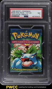 1999 Pokemon Base Set Foil Pack 1st Edition French Venusaur Florizarre PSA 7