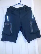 NUCKILY NS357 Men's Outdoor Sport Nylon + Spandex Shorts - Black size Small