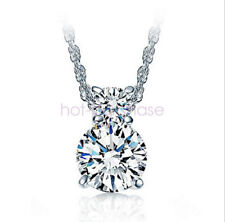 925 Sterling Silver AAA Cubic zirconia Zircon Pendant Necklace Women Jewelry