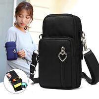 Women Mobile Phone Belt Pouch Case Cross-body Shoulder Bag Purse Wallet