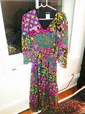 Diane Freis Boho Gypsy silk Dress