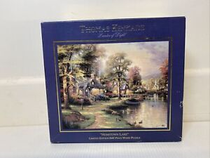 Thomas Kinkade Limited Edition Jigsaw Puzzle 500 Piece Wooden Hometown Lake 1998