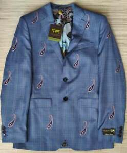 Ted Baker Global Limited Edition check blazer size 36R Wool Modern Fit RRP £999