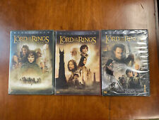 New!Lord Of The Rings 3 Dvd Lot Fellowship Ring, Two Towers, Return of the King