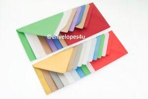C7 82 x 113mm Diamond Flap Envelopes 100gsm for RSVPs A7 cards - 35+ colours