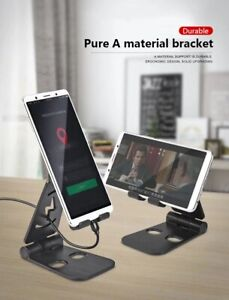 All In One Mobile Phone Holder Smartphone Desk Stand Holder Foldable Universal