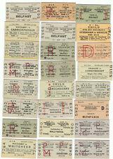 Railway Tickets Ireland, 24 No. N.I. Rlys.,Cross Border, Finaghy, Belfast, Etc.