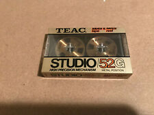 One  New Sealed TEAC Sound 52G Type IV Metal Real Cassettes Tapes Made in Japan